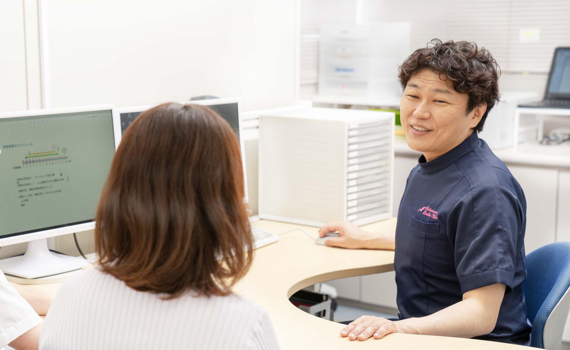 体外受精・不妊治療専門なかむらレディースクリニック・大阪診察写真