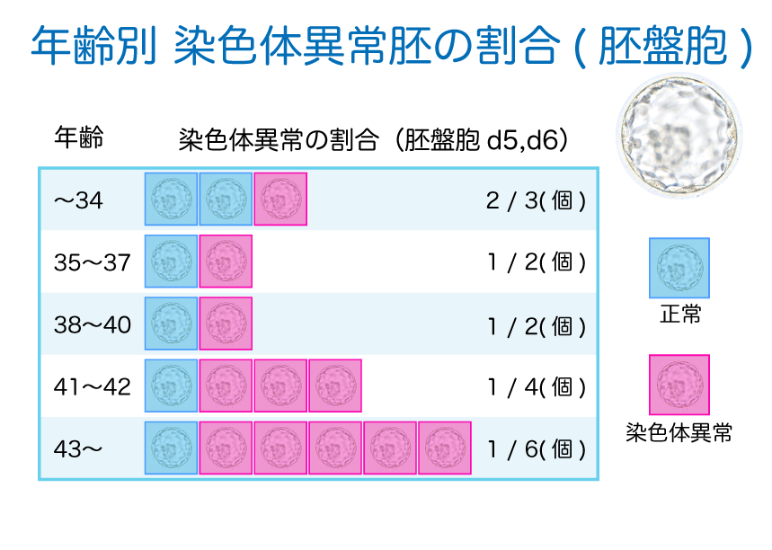 染色体異常胚の割合
